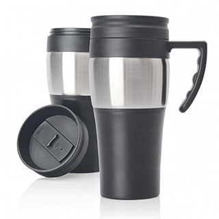Promotional Product Steel Loop Travel Mug with handle