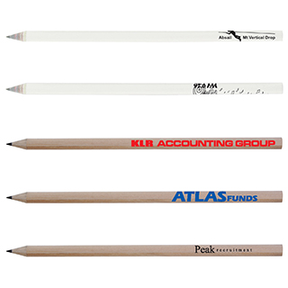 Promotional Product ROUND FULL LENGTH RECYCLED NEWSPAPER HB PENCILS SHARPENED