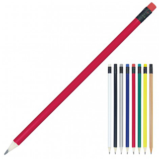 Promotional Product Sharpened Pencil with Coloured Eraser