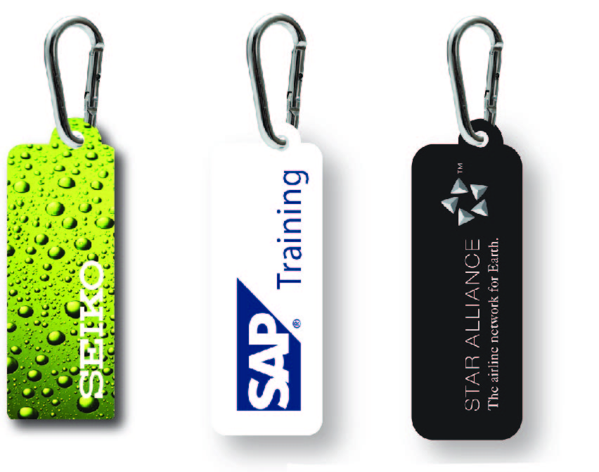 Promotional Product Phonewipe in waterproof pouch on carabiner