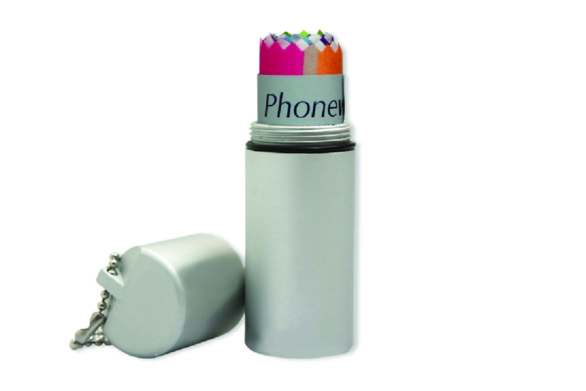 Promotional Product Phonewipe in aluminium tube with keychain
