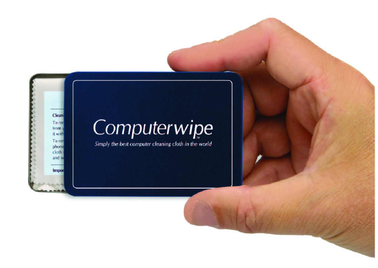 Promotional Product Medium Computer Wipe in metal tin