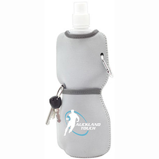 Promotional Product Foldable Bottle with Neoprene Sleeve
