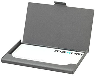 Promotional Product Gunmetal Business Card Holder