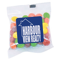 Promotional Product Assorted Fruit Skittles in 50g Cello Bag