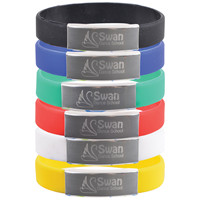 Promotional Product Silicone Wrist Band with Metal Plate