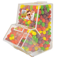 Promotional Product Assorted Fruit Skittles in Dispenser