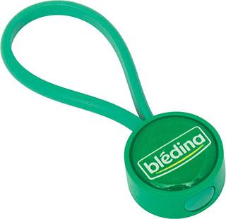 Promotional Product Globus Plastic Round Keyring