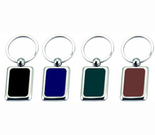Promotional Product Coloured Plated Keyring
