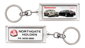 Promotional Product Flashing Keyring on 2 Sides