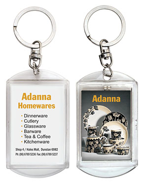 Promotional Product Flashing Keyring - Large