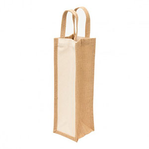 Promotional Product Eco Jute 1 Bottle Wine Bag