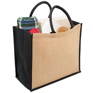 Promotional Product Eco Jute Tote with Wide Gusset