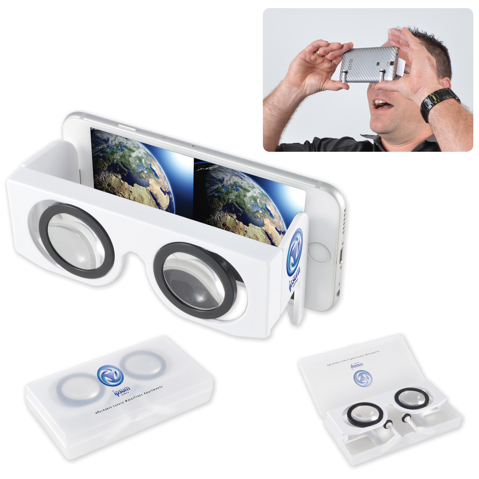 Promotional Product Virtual Reality 3D Glasses in PP Case