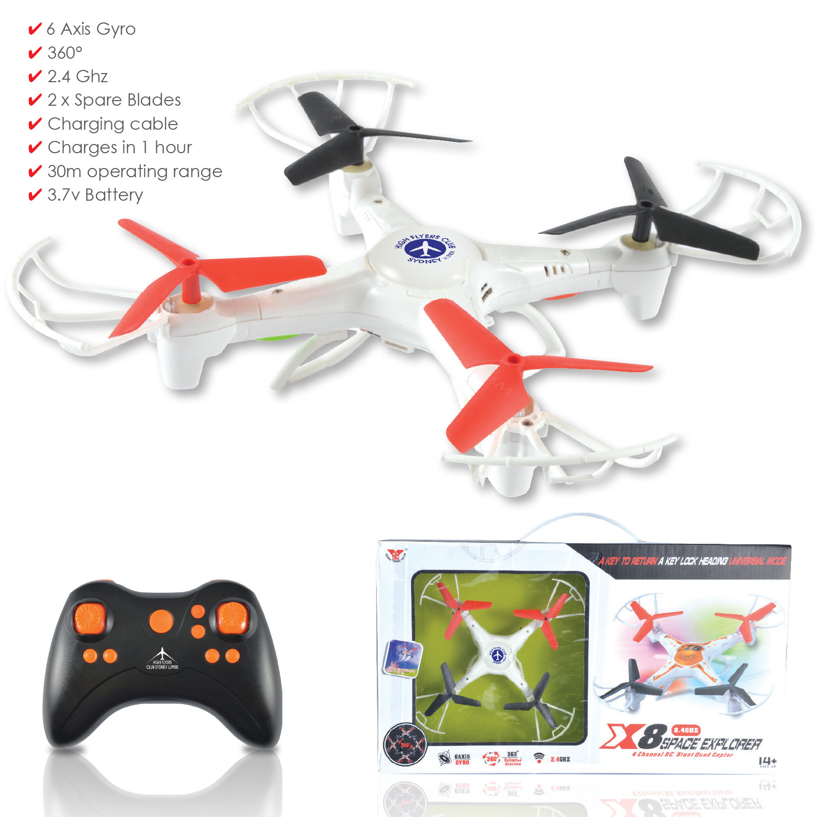 Promotional Product Maxi Quad Copter Drone