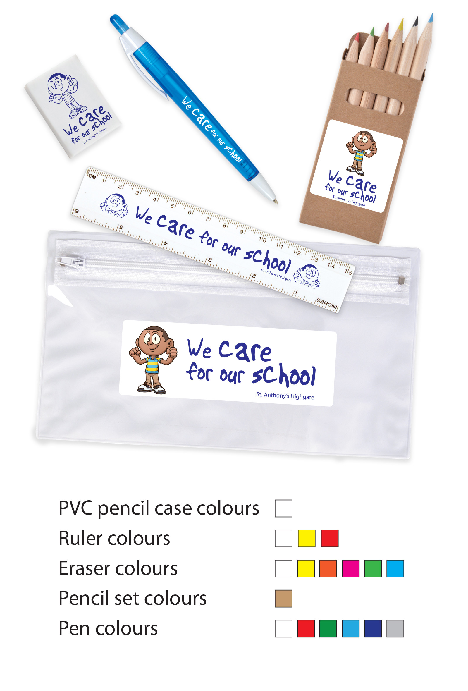 Promotional Product Stationery Set in PVC Pencil Case