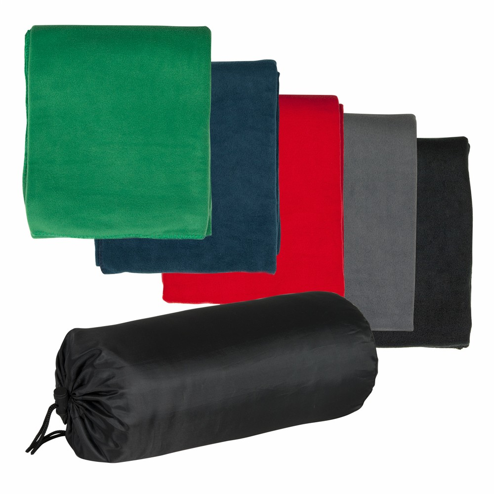 Promotional Product Polar Fleece Blanket in Nylon Pouch
