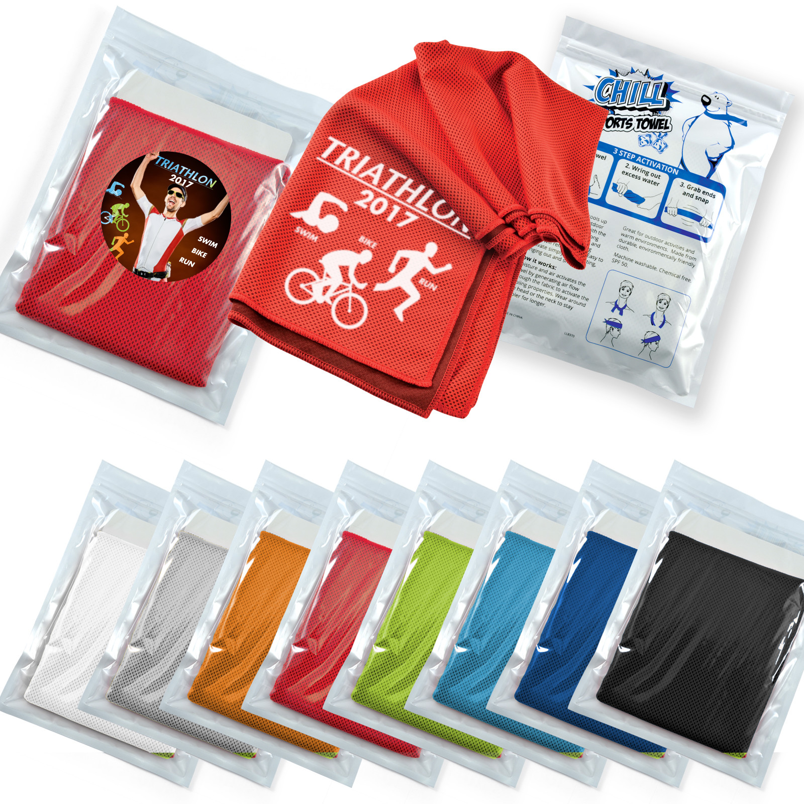 Promotional Product Chill Cooling Towel in Pouch