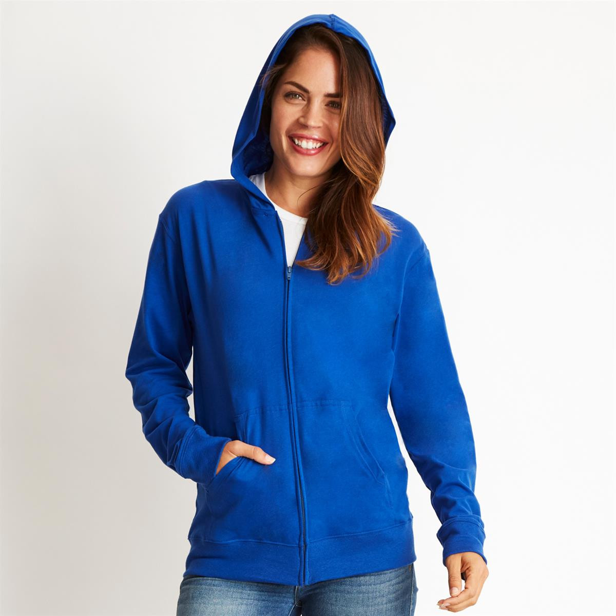 Promotional Product Sueded Zip Hoody