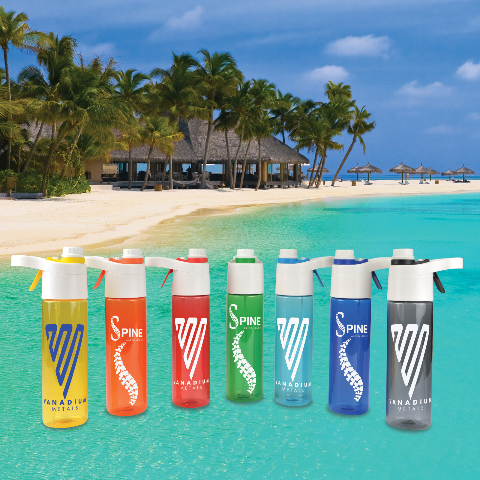 Promotional Product Bahama Water Bottle / Mister 600ml