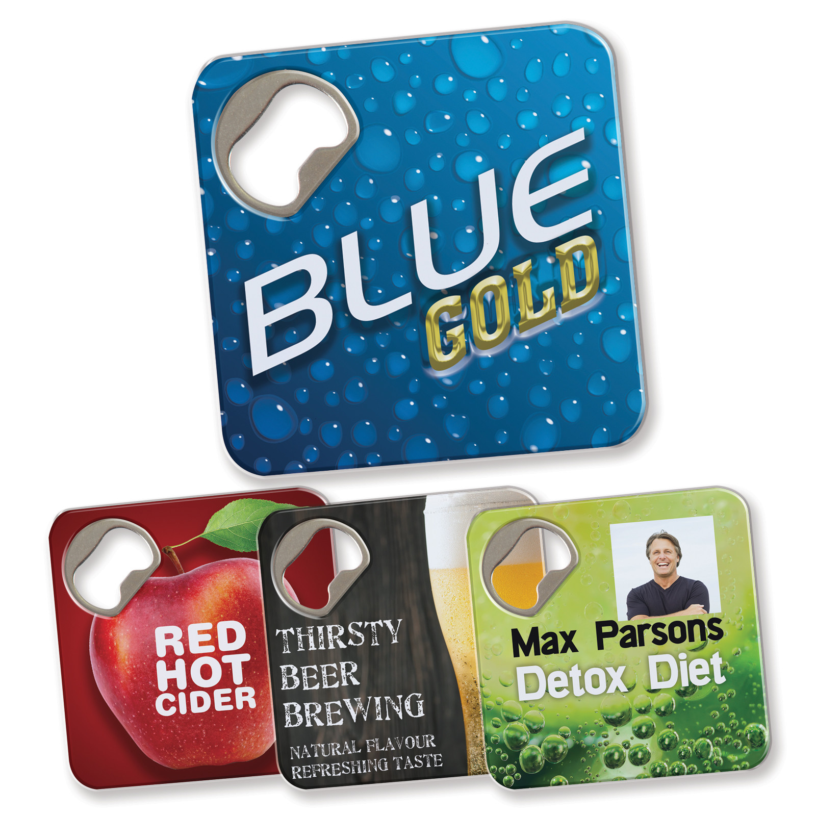Promotional Product Quench Bottle Opener / Coaster