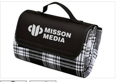 Promotional Product Jenolan Picnic Rug, Black/White