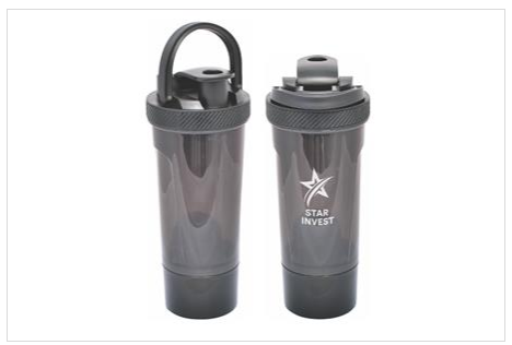 Promotional Product Shaker-Pro Sports Bottle, Black