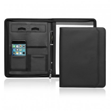 Promotional Product A4 Tech Folio w/Zipper and Magnetic Closure