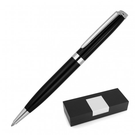 Promotional Product France Black Metal Ballpoint Pen