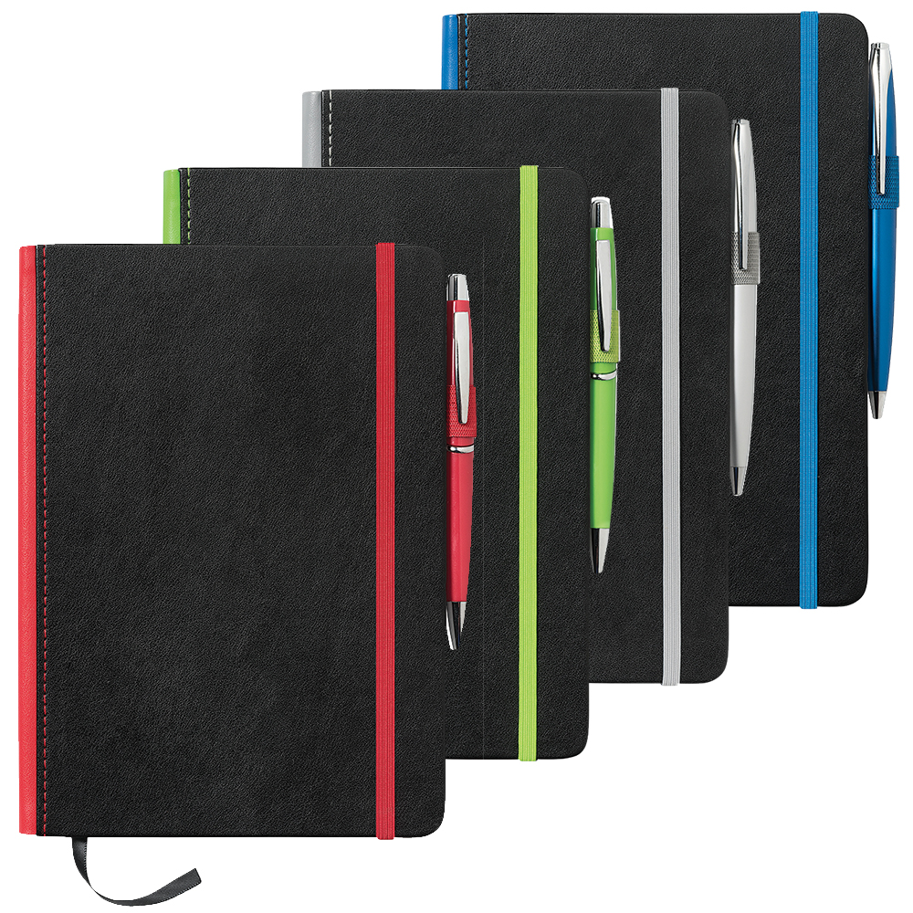 Promotional Product  A5 Barranco JournalBook with Coloured Spine