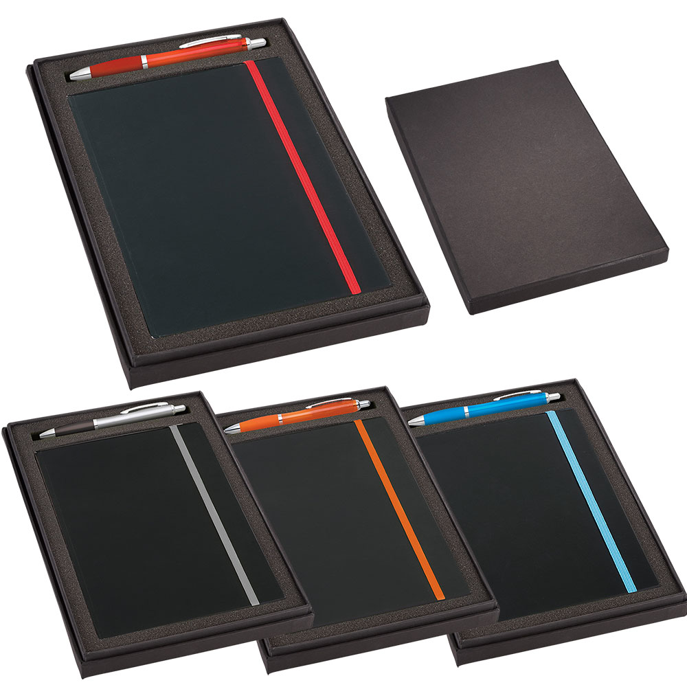 Promotional Product JournalBook Gift Set with JB1001 Journal & SM-4101 Nash Pen
