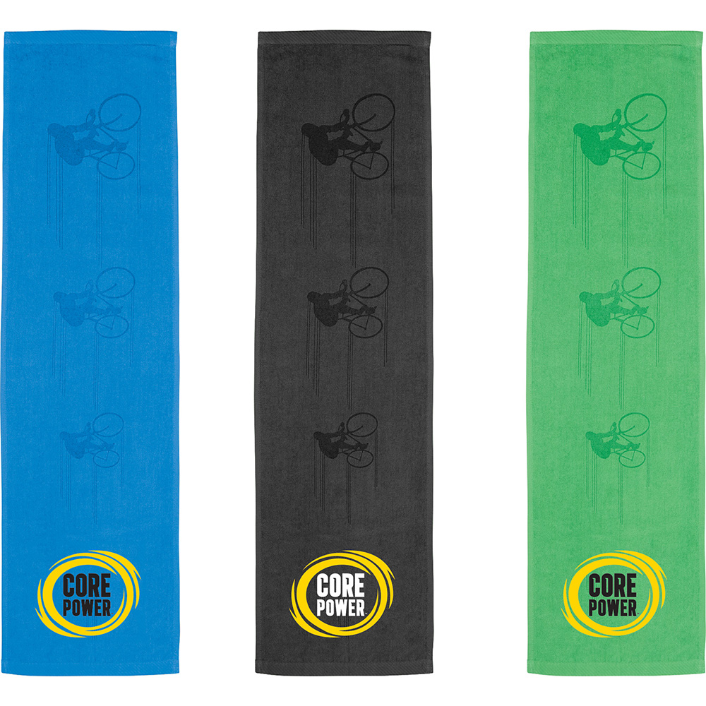 Promotional Product Silhouette In Action Sports Towel