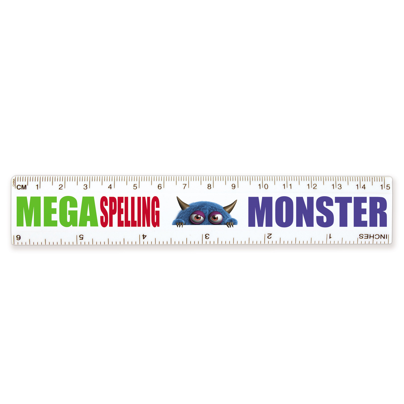 Promotional Product * 15cm White Plastic Ruler