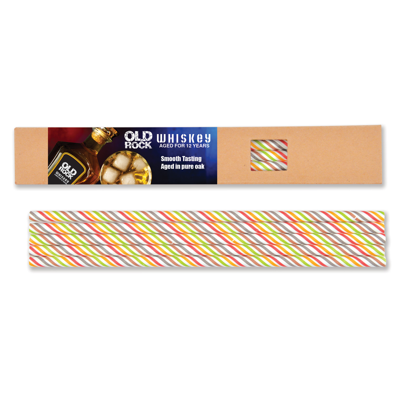 Promotional Product Buzz Paper Straws