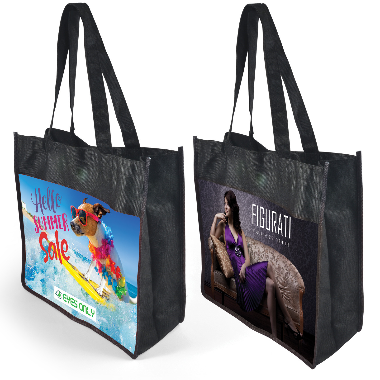 Promotional Product Cairo Non Woven Bag - Recycled PET 130GSM- Full colour printed
