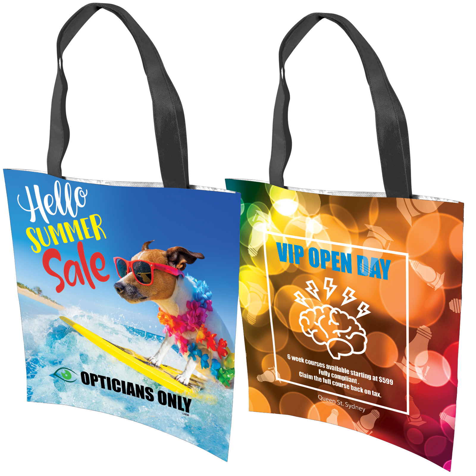 Promotional Product Geneva Non Woven Bag - 80 GSM - full colour printed