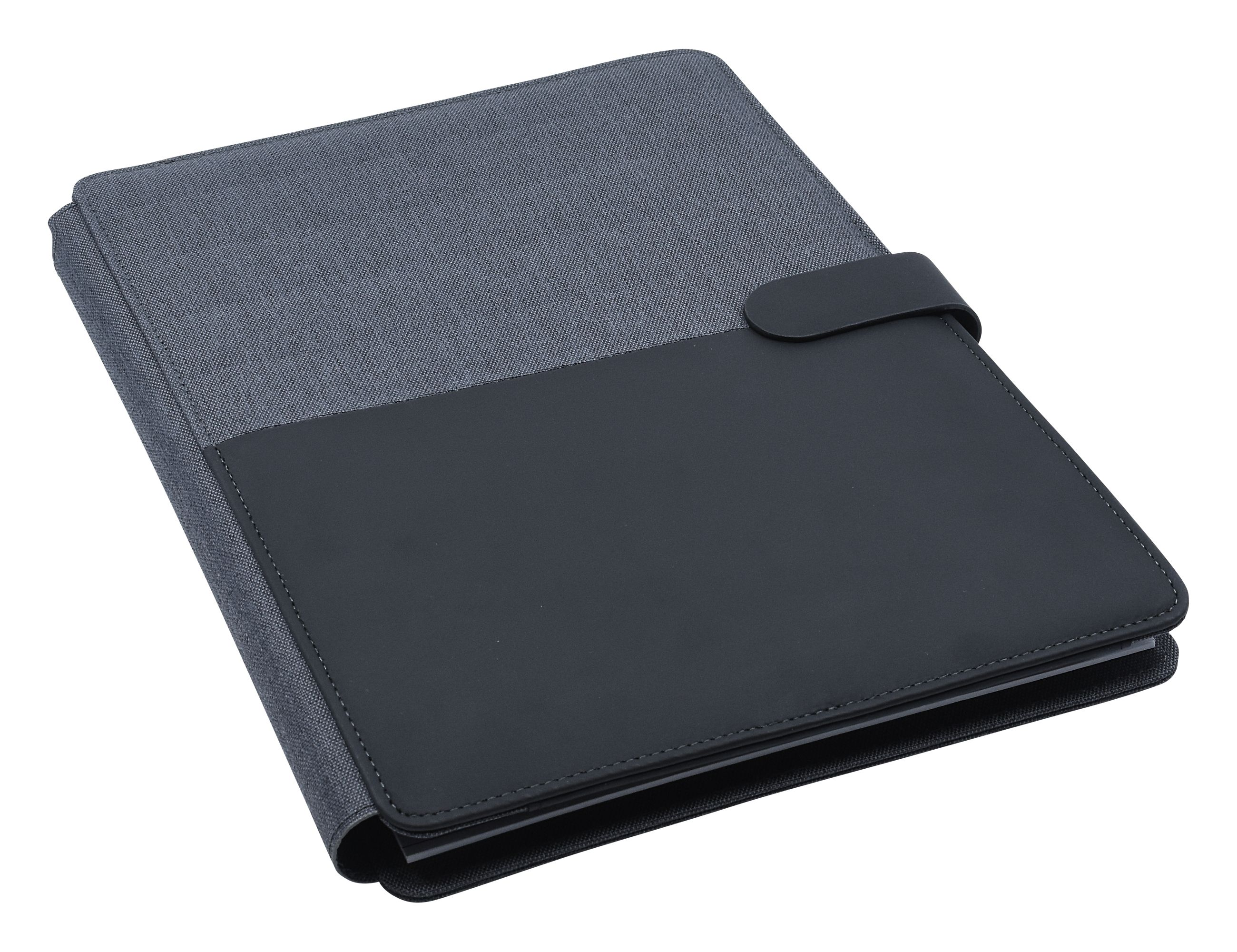 Promotional Product Impact A4 Portfolio, Black/Charcoal