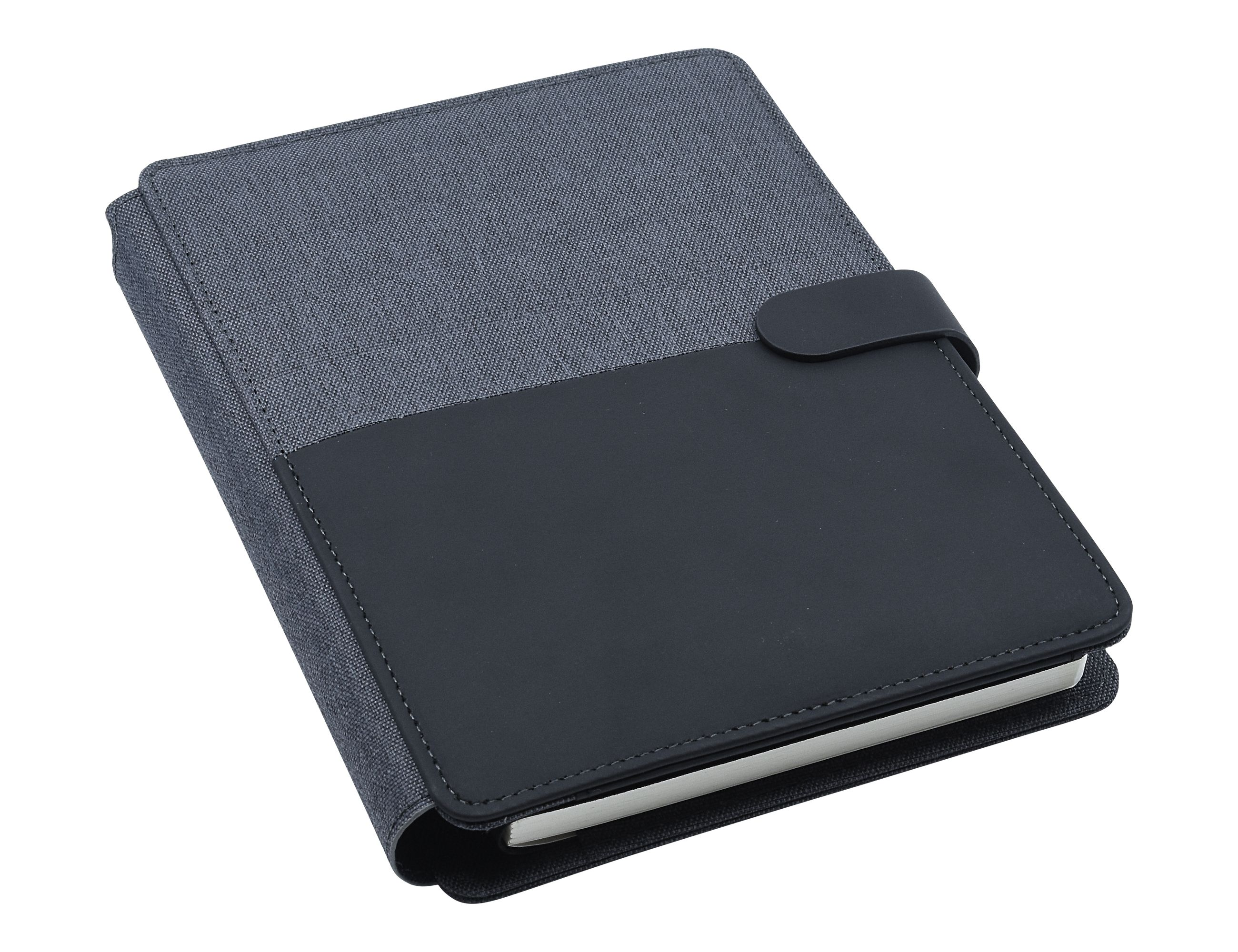 Promotional Product Impact A5 Portfolio, Black/Charcoal