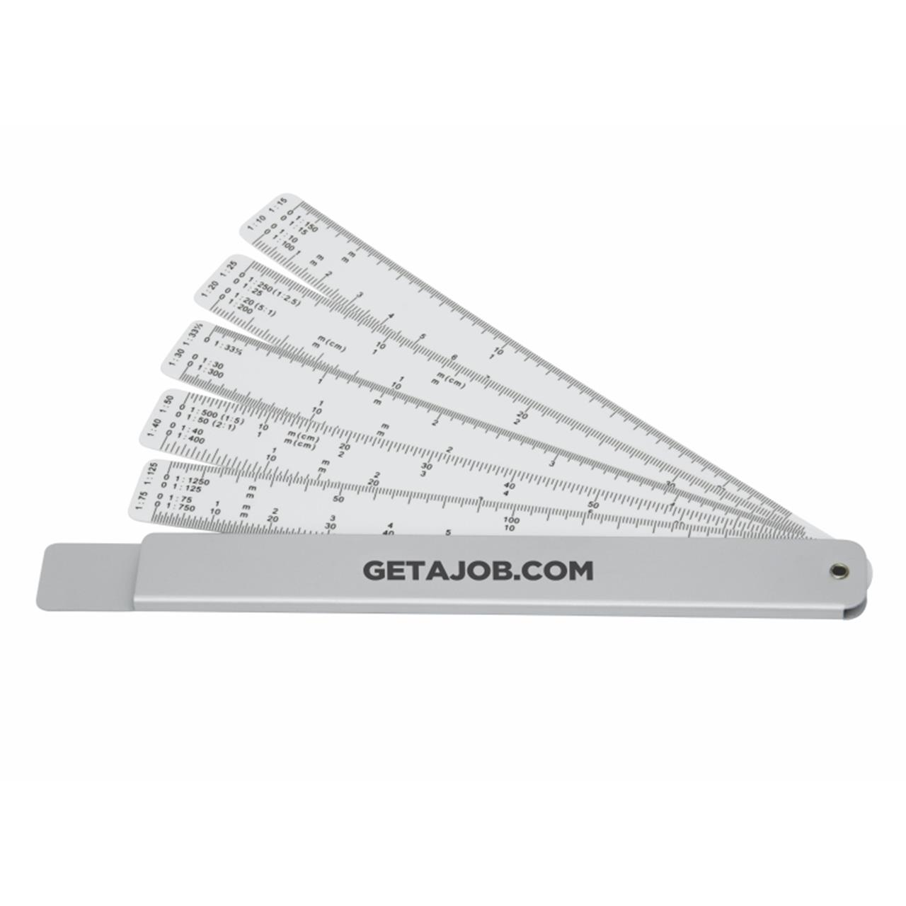 Promotional Product Measure-Mate Scale Rule, Silver