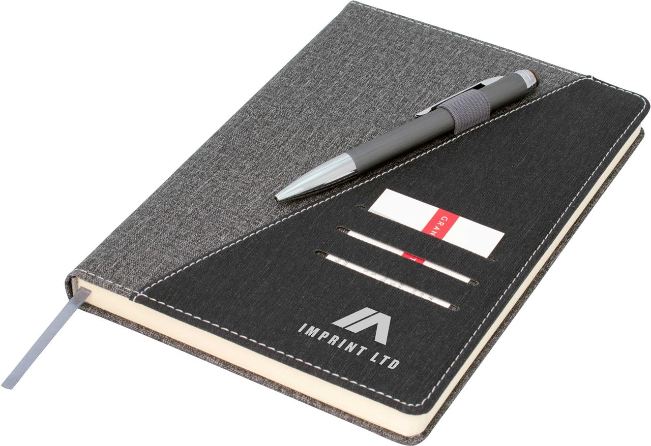 Promotional Product Ottawa A5 Notebook, Black/Grey
