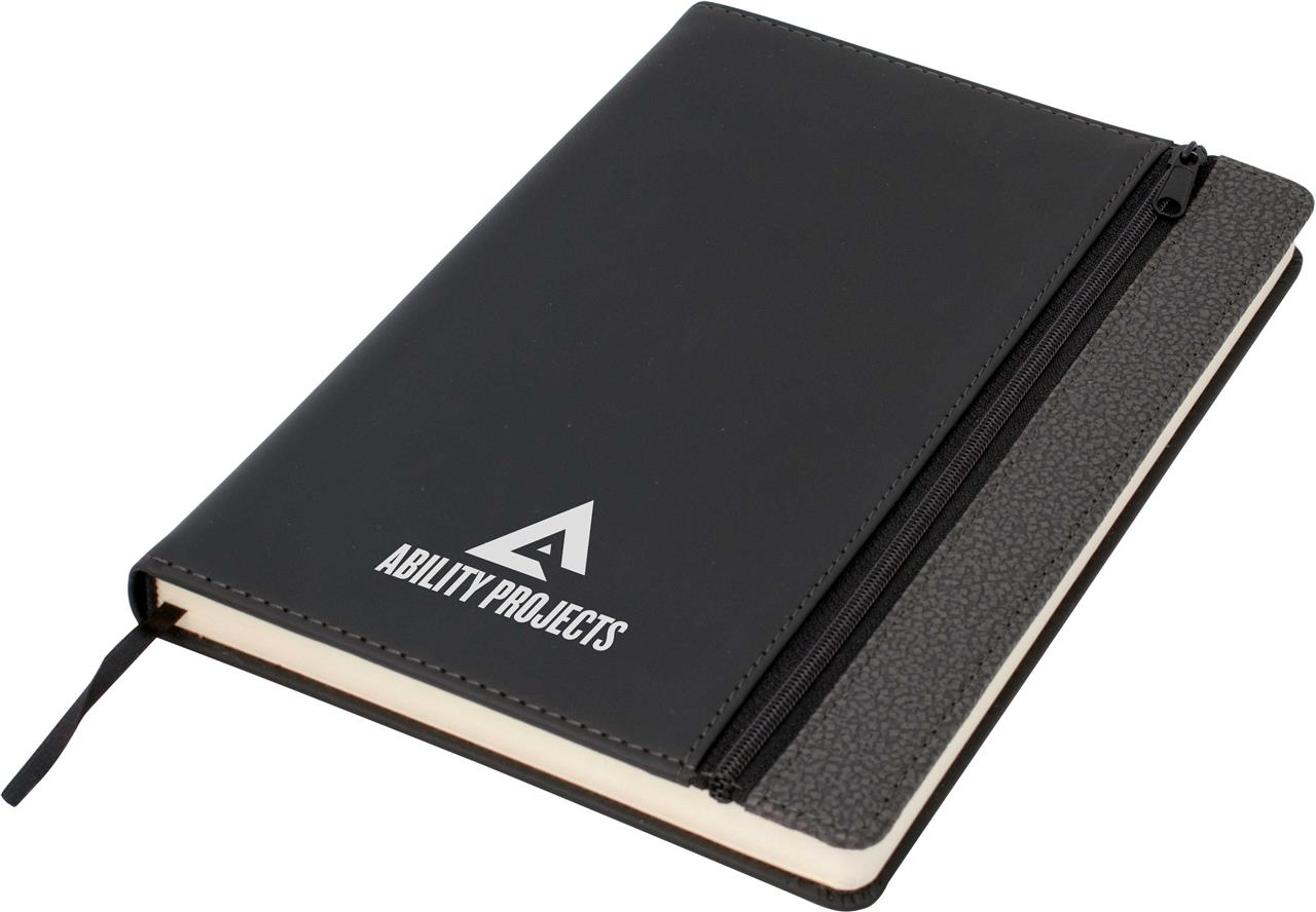 Promotional Product Toronto A5 Notebook,Black/Dark Grey Trim