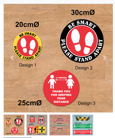 Promotional Product Social Distancing Floor Decals
