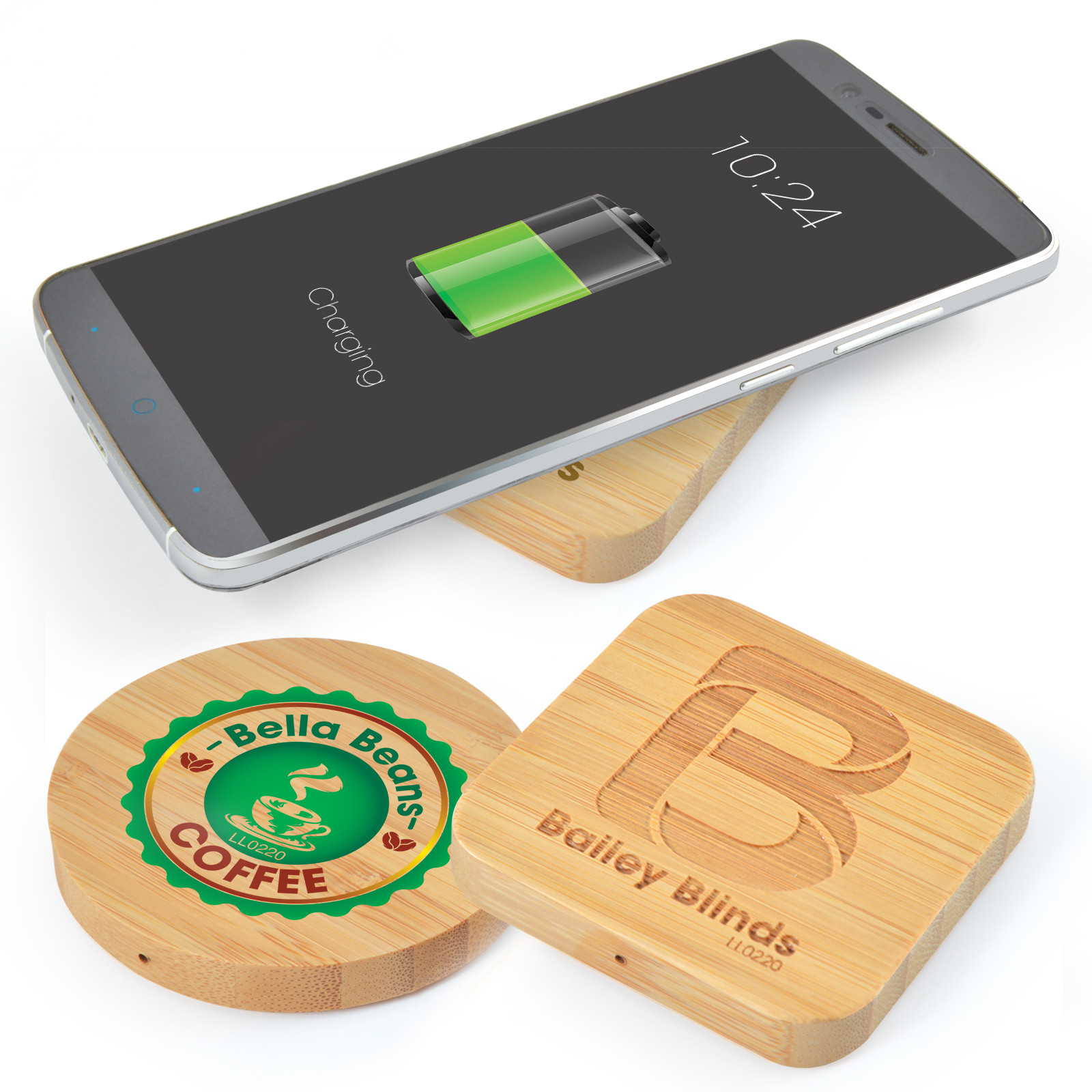Promotional Product Arc Bamboo Wireless Charger