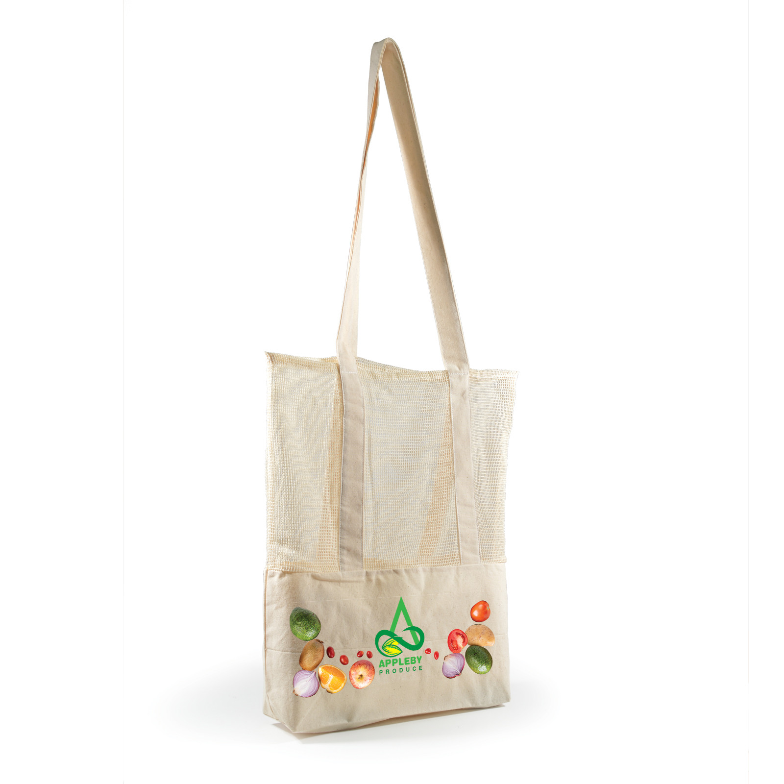 Promotional Product Scoot Calico /Cotton Mesh Tote Bag