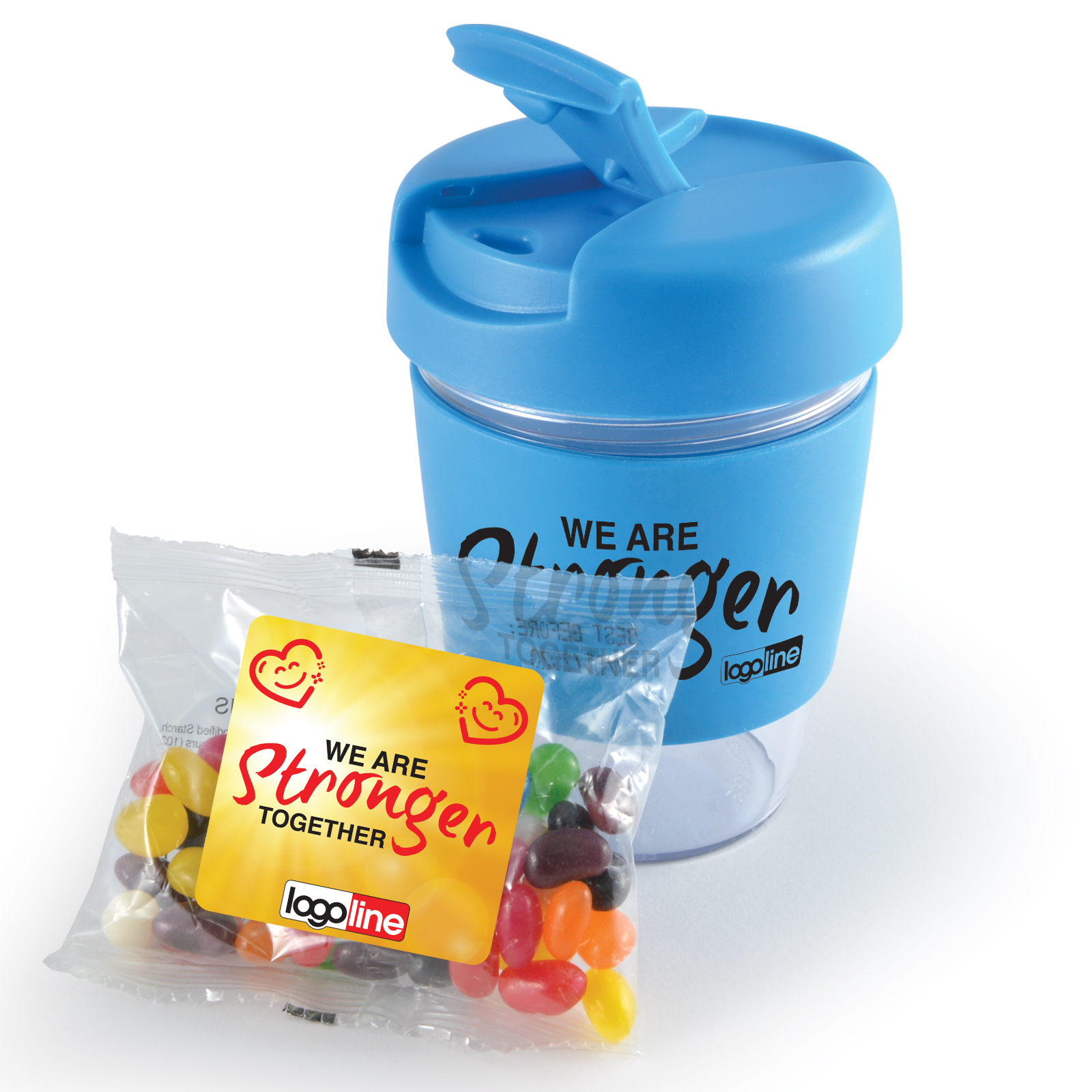 Promotional Product Kick Coffee Cup with Jelly Beans