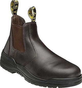 Promotional Product Claret Full Leather Elastic Sided Safety Boots