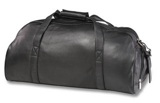 Promotional Product Leather Executive Sports Bag (Blk, Brn)