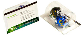 Promotional Product Biz Card Treat with x 2 Lindt Lindor Balls