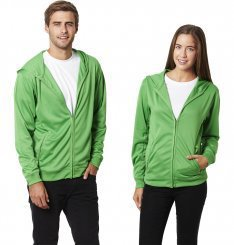 Promotional Product Polyester Cooldry Full Zip Hooded Jacket
