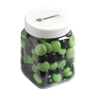 Promotional Product 180gm Choc Beans in Plastic Jar